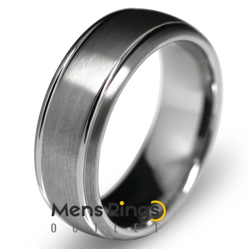 Harmony Brushed Tungsten Wedding Ring